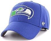 Seattle Seahawks MVP Legacy Throwback Vintage Blue Hat Cap Adult Men's Adjustable. Structured Hat