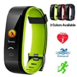 Lintelek Fitness Tracker, Color Screen Activity Tracker IP68 Waterproof Fitness Watch Heart Rate Monitor, Sleep Monitor, Step Counter, 14 Sports Modes Men Women Kids