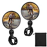 2 Pieces Bike Mirror Cycling Rear Mirror Adjustable 360 Degree Rotatable Rearview Bicycle Mirrors...