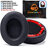 Premium Beats Studio Replacement Ear Pads by Wicked Cushions - Fits Studio 3 Wireless & Studio 2 Wired/Wireless - Memory Foam Adapts to Your Ears | Flawless Installation with Upgraded Adhesive