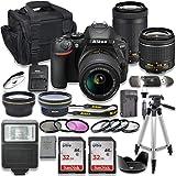 Nikon D5600 DSLR Camera with AF-P 18-55mm VR Lens + Nikon AF-P 70-300mm f/4.5-6.3G ED Lens + 2pc...