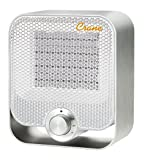 Crane Personal Ceramic Space Heater, 2 Settings 800W/1200W, Overheat Protection, For Home Office Desk, White
