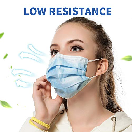 50PCS Disposable Face 3 Layer Anti-Dust Earloops Protective Cover Mask(Blue) 2