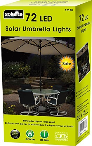 Ombrellone da 72LED, a energia solare, Fairy String Lights,doppia funzione