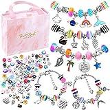 Bracelet Making Kit for Girls, Flasoo 85PCs Charm Bracelets Kit with Beads, Jewelry Charms,...