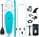 Soopotay Inflatable SUP Stand Up Paddle Board, Inflatable SUP Board, iSUP Package with All Accessories (Turquoise_Green, 10' x 32'' x 6'')