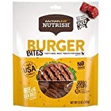 Rachael Ray Nutrish Burger Bites Real Meat Dog Treats, Beef Burger with Bison Recipe, 12 Ounces, Grain Free