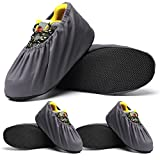 [3 Pairs] Overshoes Non-Slip Washable Reusable Shoe Covers for Household Thickened Dustproof Indoor Boot Covers