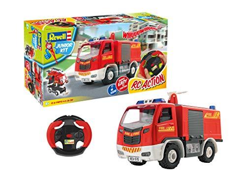 Revell Control RC Fire Truck Veicolo telecomandato per Junior Kit, Colore Red, 00970
