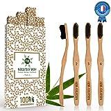 Naturaly Way - Brosse à dent bambou Écologique Premium - Poils...