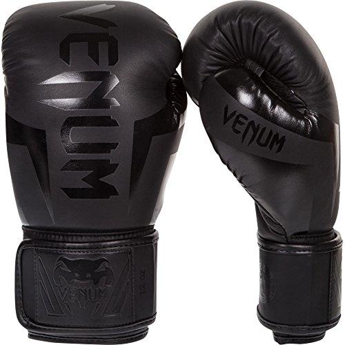 Venum Elite Guantes de Boxeo, Unisex Adulto, Negro Matte/Negro, 14 oz