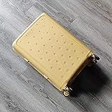 LWJ Maleta con Ruedas giratoria Ultraligera Caja de consignación de 20'24' 28'maletín con Ruedas, Amarillo, 29'