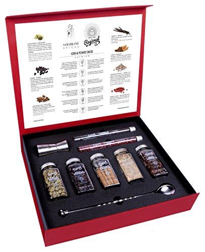 Set Gin Tonic Esclusivo con Botanici e Spezie per Cocktail - 200 Grammi