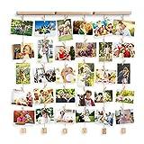 Uping Cadre Photo Mural en Bois, Cadre Photo Pêle-mêle, Décoration...