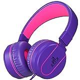 Artix faltbare Kopfhörer mit Mikrofon |NRGSound On-Ear-Kopfhörer für Reisen, Arbeit, beim Laufen, Sport, mit Inline-Controller, toll für Kinder/Jugendliche/Erwachsene violett