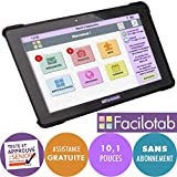 FACILOTAB Tablette L Onyx 10,1 Pouces WiFi/4G - 32 Go - Android 7 (Interface...