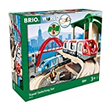 BRIO World - 33512 Travel Switching Set   42 Piece Train Toy with Accessories and Wooden Tracks for Kids Ages 3 and Up,Multi