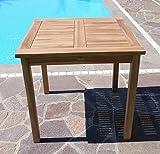 ASS Teak Holztisch Gartentisch Garten Tisch 80x80cm Gartenmöbel Holz sehr robust - 9