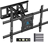 Full Motion TV Wall Mount Bracket Dual Articulating Arms Swivels Tilts Rotation for Most 37-70 Inch...
