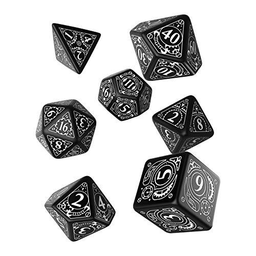 Q-Workshop Steampunk Dice Black/White (7 STK.) Board Game