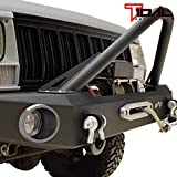 Tidal Stinger Front Bumper with Winch Plate Fit for 84-01 Jeep Cherokee XJ/Jeep Comanche MJ