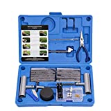 AU TOWN Tire Repair Kit - 67pcs Heavy Duty Tire Plug Kit, Universal Tire Repair Tools to Fix Punctures and Plug Flats Patch Kit for car Motorcycle, Truck, ARB,ATV, Tractor, RV, SUV, Trailer