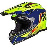 ILM Adult ATV Motocross Off-Road Street Dirt Bike Full Face Motorcycle Helmet DOT Approved Dual Sports Suits Men Women(L Yellow Blue)