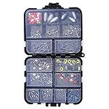 OTOTEC Kit d'accessoires de pêche 160 pièces avec boîte de matériel de...