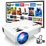DR. J Professional HI-04 Mini Projector Outdoor Movie Projector with 100Inch Projector Screen, 1080P...