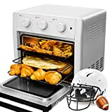 WEESTA 19QT Air Fryer Toaster Oven Pro,5-IN-1 Countertop Convection Oven with Air Fry Air Roast Toast Broil Bake Function for Fried Chicken, Steak, Fries, Tater Tots, Chips, Shrimps, Bacon, Pizza, etc