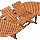 Deuba Sitzgruppe Moreno 8+1 Eukalyptusholz klappbar 9-TLG Tisch Sitzgarnitur Holz Gartenmöbel Garten Set - 9