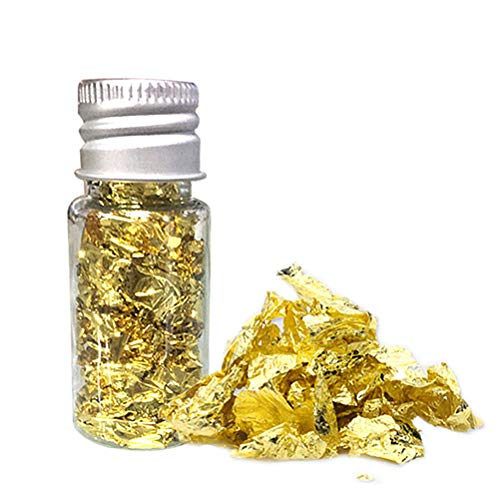 10 ml comestible de copos de oro de la hoja de la máscara d