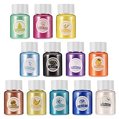 ❄12 Vivid Colors of Mica Powder: Each set includes 12 mica powder, each color is 10 grams by weight and packed in individual jar. All colors are bright and no duplicates. Our mica powder pigments are perfect for all of your mica pigment needs, defini...