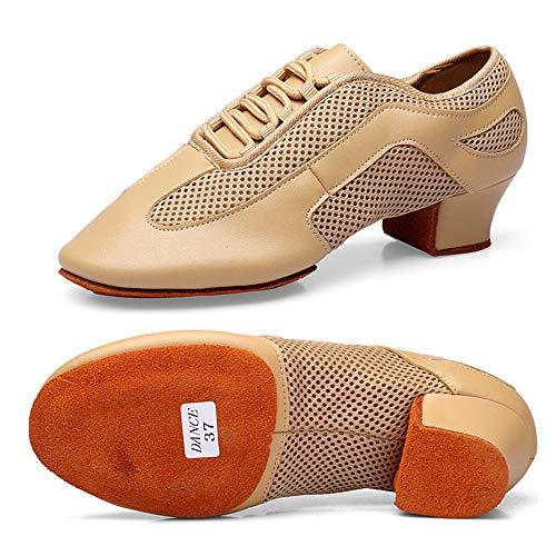 Zapatos Baile Latino Mujer Cuero Comodo Respirable...