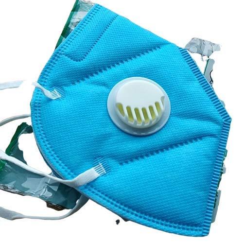 Maschera respiratore, filtro autoadescante tipo di respiratore antiparticolato, standard KN95 per la pulizia, fai da te, costruzione, uso domestico, falciatura, ecc. (5PCS)