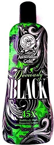 Australian Gold Deviously Black 45X Dark Bronzer Indoor Tanning Bed Lotion 8.5 Oz/ 250 Ml