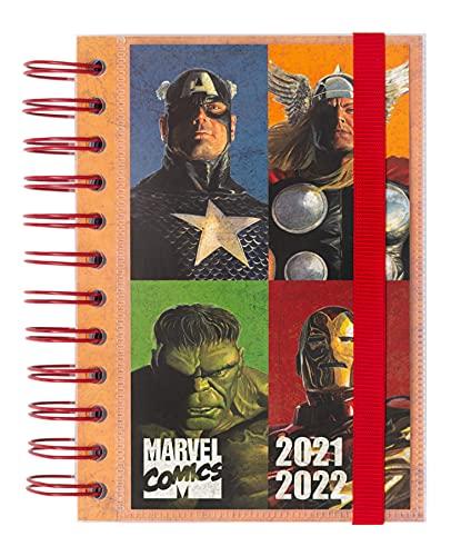 Agenda Marvel Comics 2021-2022 - Agenda escolar 2021-2022 / Agenda 2021 día por página - Agenda 11 meses desde Agosto de 2021 a Junio de 2022 | Producto licencia oficial - Agenda Kalenda