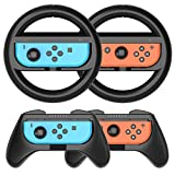 Grip Kit HEYSTOP Joy-Con Grip Compatible with Nintendo Switch Controller Racing Switch Steering...