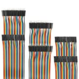 EDGELEC 120pcs Breadboard Jumper Wires 10cm 15cm 20cm 30cm 40cm 50cm 100cm Wire Length Optional Dupont Cable Assorted Kit Male to Female Male to Male Female to Female Multicolored Ribbon Cables