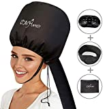 Bonnet Hair Dryer Attachment With Extra Long Hose For Hand Held Hair Dryer Adjustable Soft Bonnet with Headband Suitable for Hair Styling,Curling and Deep Conditioning Fits All Small or Big Heads