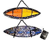 Anzid Kayak Cover Waterproof for Outdoor Storage Suitable for 12.5-14.8ft/3.8-4.5m Kayak Dust Cover-UV Sunblock Shield Protector Kayak Canoe Cockpit Accessories for Indoor/Outdoor Storage