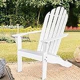 Adirondack-Stuhl aus Akazienholz, Gartenstuhl mit Rückenlehne & Armlehnen - 6