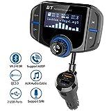 Transmetteur FM Bluetooth, Kit Voiture Main-Libre sans Fil Adaptateur Radio, QC3.0 Chargeur Rapid...