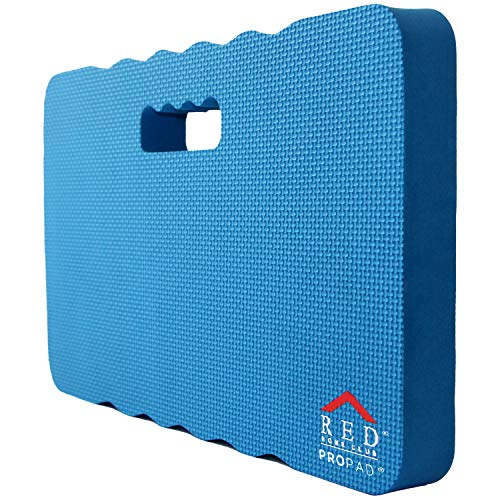 Thick Kneeling Pad, Garden Kneeler for Gardening, Bath Kneeler for Baby Bath, Kneeling Mat for Exercise & Yoga, Knee Pad for Work, Floor Foam Pad, Extra Large (XL) 18 x 11 x 1.5 Inches, Blue