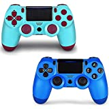 2 Pack Game Controller for PS4- Double Shock 4 Wireless Controller for Playstation 4 - Joystick with...