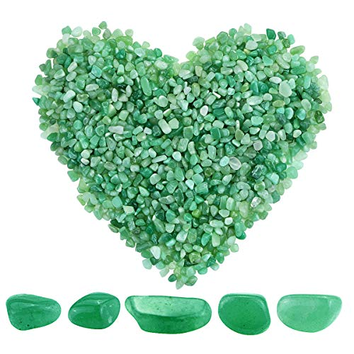 Twdrer 2lb/950g Small Natural Green Aventurine Tumbled Chips...