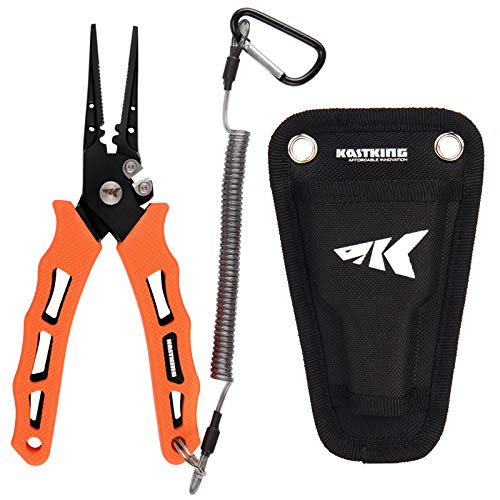 KastKing Cutthroat 7 inch Fishing Pliers, 7 inch Straight Nose