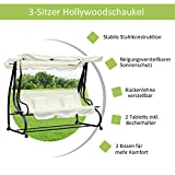 Outsunny Hollywoodschaukel Gartenschaukel 3-Sitzer - 3