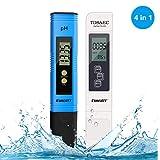 PH Mètre, Testeur ph ec Piscine PH TDS&EC température 4 en 1 Set Plage de pour...