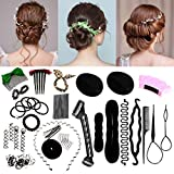 Accessoires de Coiffure, Luckyfine,Set d'Outils de Coiffure, Cheveux Accessoires, Kit de Coiffure...